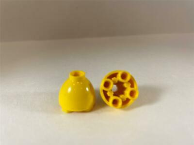 LEGO Lot of 2 Yellow 2x2x1 2//3 Round Dome Brick Pieces