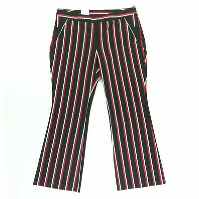 INC Womens Pants Black Size 16 Dress Striped Bootcut Leg Stretch $89 415