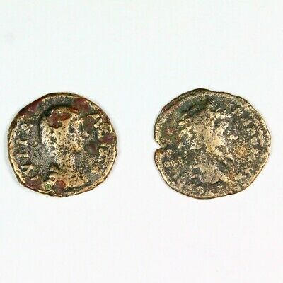 Two (2) Ancient Roman Silver Denarius Coins c. 250 AD Exact Lot Shown 6690