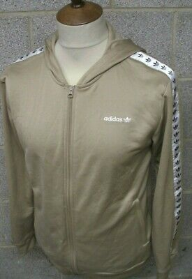 Retro Adidas Tracksuit Top Size Age 15-16 Years Brown
