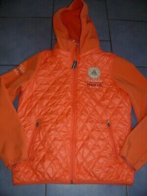 schöne Damen SOCCX Softshelljacke Stepp-Jacke mit Kapuze orange Gr. M 38 TOP