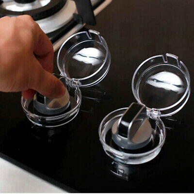 4Pcs Safety Clear Stove Knob Cover Protector Baby Child Proof Home Kitchen UK