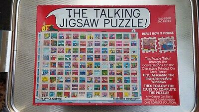 THE TALKING JIGSAW PUZZLE - The Office Building - 1991 follow thee clues jigsaw!