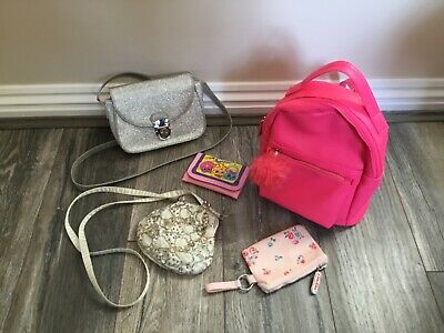 Beautiful Little Girls Bundle Of Bags & Purses By Next M&S H&M Cath Kidston.