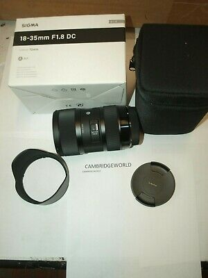 Sigma 18-35mm F1.8 DC HSM ART Lens for Canon  Black NEW in FACTORY BOX with CASE