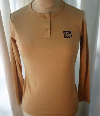 ANNE KLEIN GIRLS Long Sleeve Henley T-Shirt Top L