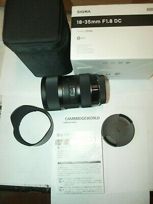 Sigma 18-35mm F1.8 DC HSM ART ZOOM Lens for NIKON  NEW in FACTORY BOX & CASE