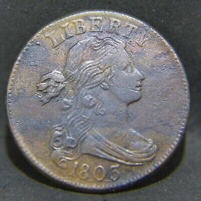 1803 Draped Bust Large Cent XF Details Rare Date
