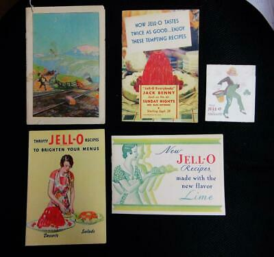 1924,1930's JELLO  RECIPE BOOKLETS , ALL NICE   5 DIFFERENT