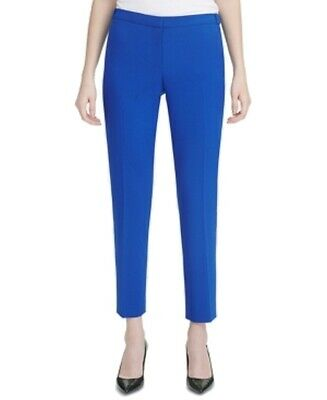 Calvin Klein Women's Blue Size 14P Petite Highline Dress Pants Stretch $89 #342