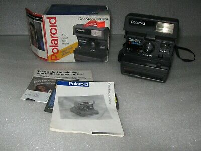 Vintage Polaroid One Step Close Up 600 Instant Film Camera w/ Box Instructions