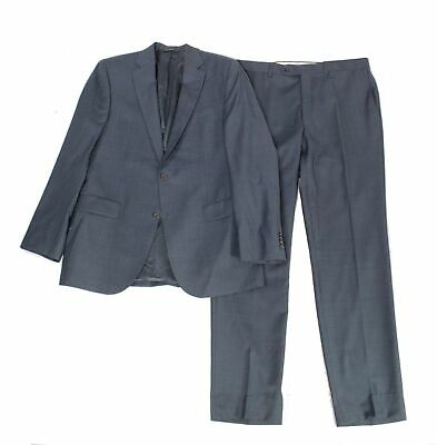 Jack Victor Mens Suit Set Blue Size 42 Two Button Notched Wool $795- #952