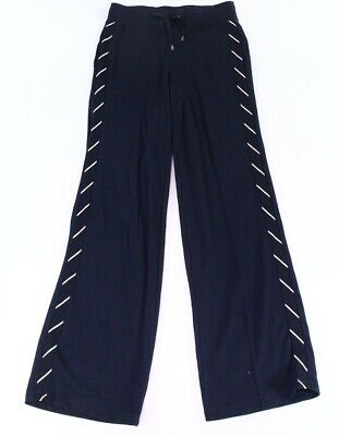 Lauren by Ralph Lauren Womens Pants Blue Size XL Wide Striped Stretch $89 565