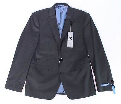 Vince Camuto Mens Blazer Black Size 40 Stretch Two Button Wool $325 #218
