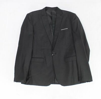 Designer Brand Mens Blazer Set Black Size XL Notched Collar $150- #592