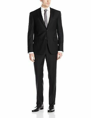 DKNY NEW Black Mens Size 40 Two Button Wool Two-Piece Notched Suit $650 396