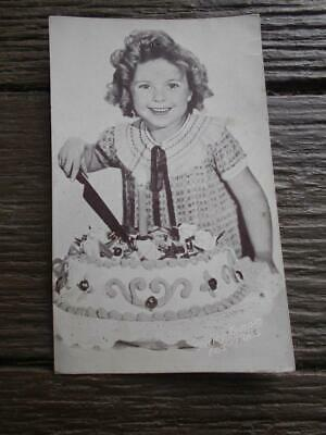 C 1930 s Shirley Temple birthday cake candle Fox Films promotional postcard film