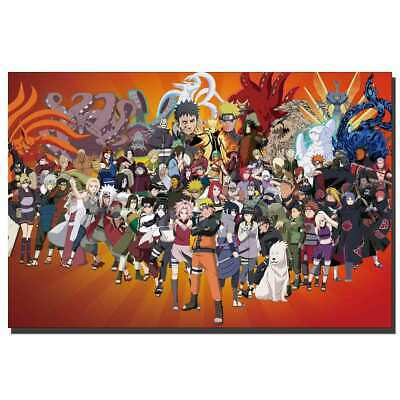 Naruto Shippuden Amazing Fighting Japan Anime Comic Movie Poster 21 24x36 E-1129