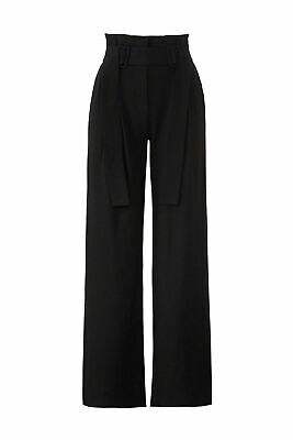 Derek Lam 10 Crosby Women's Dress Pants Black Size 0 Stretch Wide Leg $495- #925
