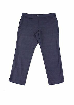 Charter Club Women's Blue 16W Plus Slim Leg Tummy Control Pants Stretch $79 #196