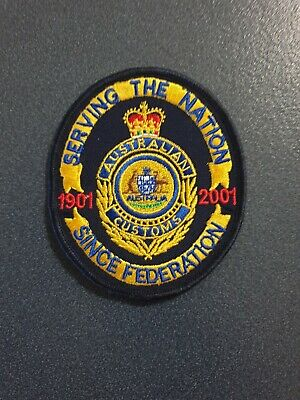 Obsolete Australian Customs Serving the Nation Since Federation cloth patch