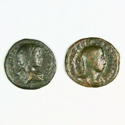 Two (2) Ancient Roman Silver Denarius Coins c. 250 AD Exact Lot Shown 6689