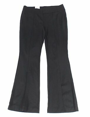 INC Womens Pants Black Size 22W Plus Split Front Flare Pull On Stretch $89 200