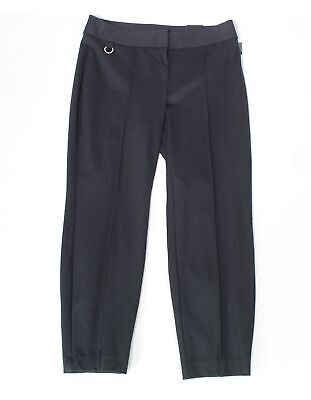 Alfani Women's Dress Pants Black Size 16W Plus Comfort-Waist Pintuck $79 #269