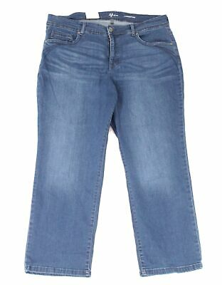 Style & Co. Womens Jeans Blue Size 16WP Plus Stretch Straight Leg $59 #122