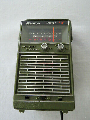 Vintage Portable Space Age **Kenton** Semi Conductor Clock Radio