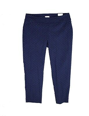 Charter Club Women's Pants Blue Size 20W Plus Slim Fit Printed Stretch $79 #206