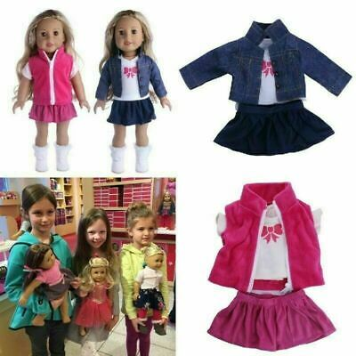 Doll Clothes Dress Outfits Pajames Xmas For 18 inch American Girl Our Generation