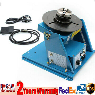 Rotary Welding Positioner Welding Positioner Turntable w/Mini 3 Jaw Lathe Chuck