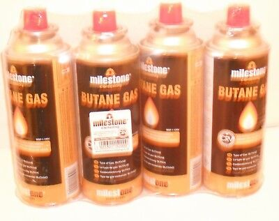 4 x BUTANE GAS BOTTLES CANISTERS FOR PORTABLE STOVES COOKERS GRILL HEATERS