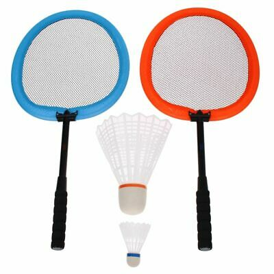 Get & Go Badminton Set XXL Orange and Blue Sport Badminton Racket and Game Set