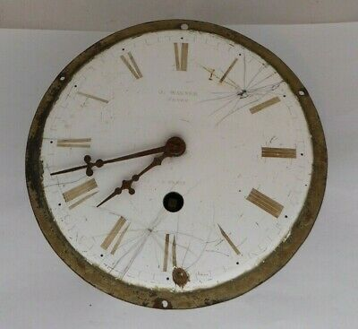 Incomplete clock movement for parts or project, J. Wagner Neveu, A Paris.