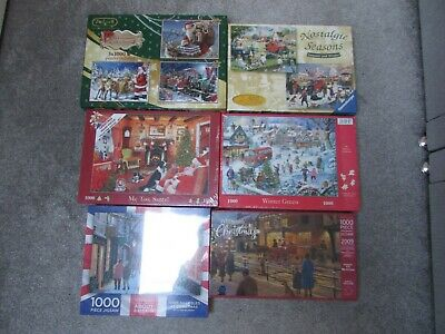 9 NEW Christmas jigsaw puzzles HOP House of Puzzles Ravensburger Falcon WH smith