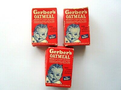 Miniature Doll Play Food Advertising Gerbers Baby Cereal Food Lot Rare Htf