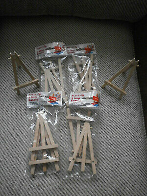 Mini Wooden Easels by Reeves 5 x Packs of 2