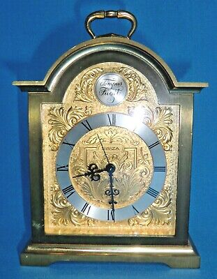 Quality Vintage Swiza Brass Carriage Clock  Tempus Fugit - mechanical