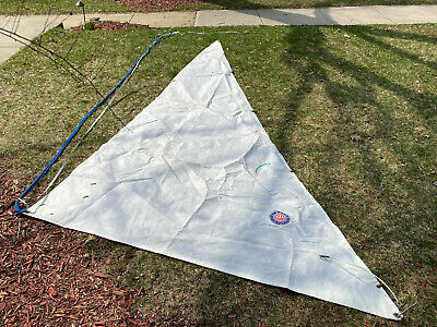 "Jib Headsail Foresail Precision 23 Luff: 14' 7""  foot  6' 11""  Used Good"