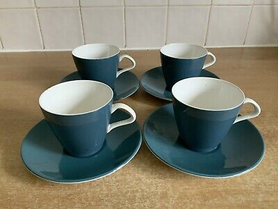 Poole Pottery Blue Moon 4 x Cups & Saucers