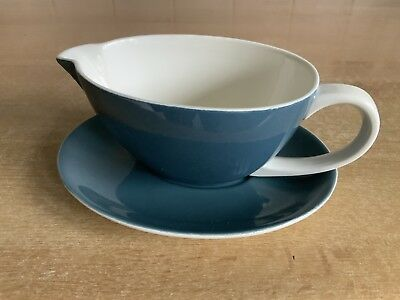 Poole Pottery Blue Moon Gravy Boat and Stand