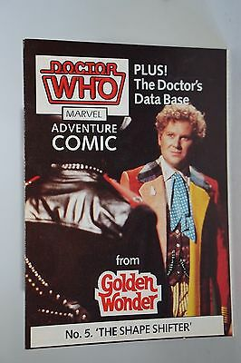 DOCTOR WHO GOLDEN WONDER MARVEL ADVENTURE COMICS No.5 of 6 1986