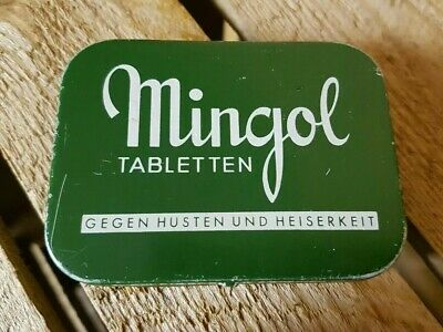 Alte Blechdose Tablettendose MINGOL Tabletten Gimborn AG Arznei old tin can