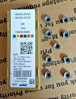 10 Pack INGERSOLL Carbide Milling Insert RCLT1606MON-CC1 IN4030
