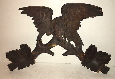 Vintage Hand Carved /Hand Painted Wooden Folk Art AMERICAN BALD EAGLE