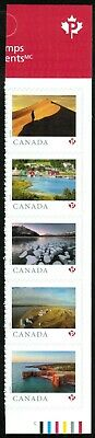 Canada sc#??? From Far and Wide 2020, Right Strip of 5 from Booklet, Mint-NH