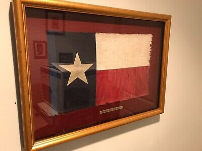 Beautifully Framed Texas Flag of The Third Republic