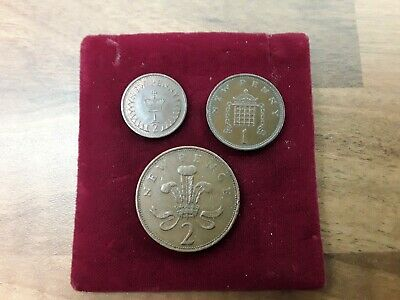 GB 1971 1/2 PLUS 1 PLUS 2 NEW PENNY COINS Elizabeth II 3 COIN LOT  COLLECTABLE